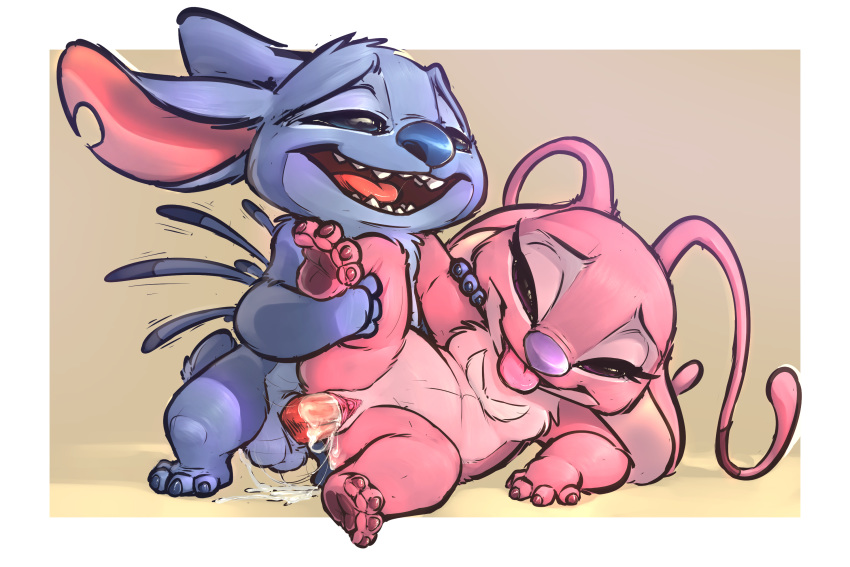 alien and pink lilo stitch Whisper the wolf 3d model