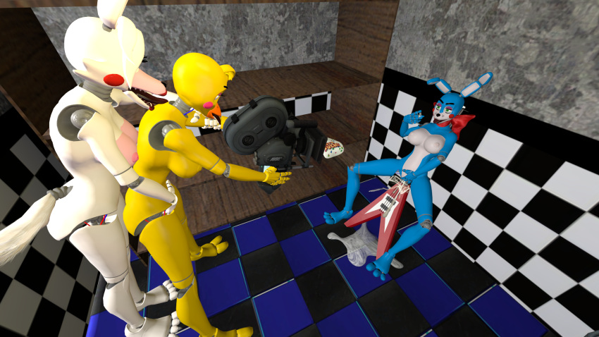 freddy toy fnaf chica toy x Jem and the holograms danse